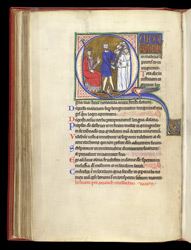 Psalm 51 with Doeg beheading the priests, in a Psalter